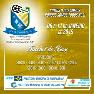 Echaporã e Oscar Bressane recebem pela primeira vez, Copa Sulamericana de Futebol